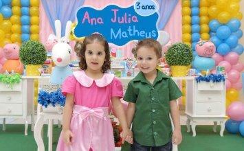 Ana Julia e Mateus - 3 anos