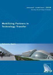 Mobilising Partners in Technology Transfer - ASTP