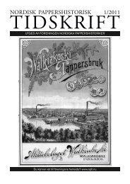 Finlands massa- och pappersindustri sedan bör- jan av 1900-talet