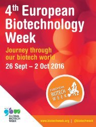 4 European Biotechnology Week