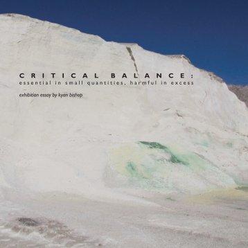 Critical Balance