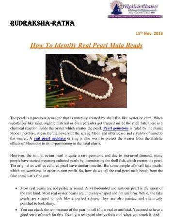How to make pearl necklace | Pearl mala in gold - Rudraksha Ratna