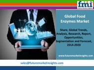 Food Enzymes Market To Increase at Steady Growth Rate