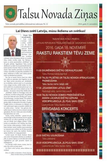 Talsu Novada Ziņas