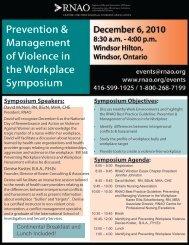 Symposium Speakers - Registered Practical Nurses Association of ...