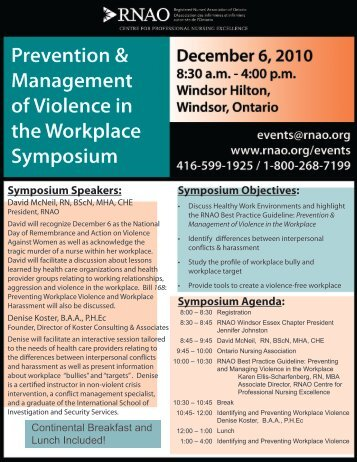 Symposium Speakers - Registered Practical Nurses Association of ...