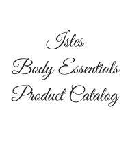 IslesBody EssentialsProduct Catalog