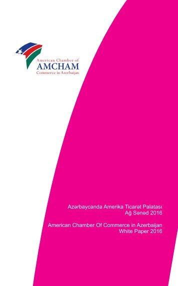 Ağ Sənəd 2016 American Chamber Of Commerce in Azerbaijan White Paper 2016