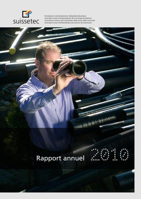 Rapport annuel 2010 - Suissetec