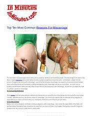 Top Ten Most Common Reasons For Miscarriage