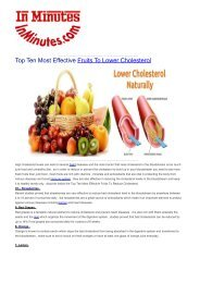 Top Ten Most Effective Fruits To Lower Cholesterol