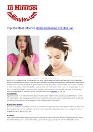 Top Ten Most Effective Home Remedies For Hair Fall