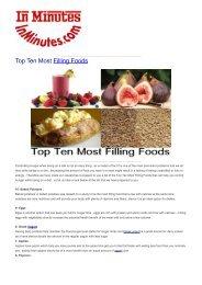 Top Ten Most Filling Foods