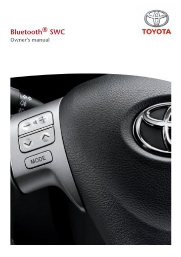 Toyota Bluetooth SWC English - PZ420-00296-EN - Bluetooth SWC English - Manuale d'Istruzioni