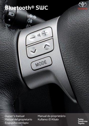 Toyota Bluetooth SWC - PZ420-T0290-SE - Bluetooth SWC (English Spanish Greek Portugese Turkish) - Manuale d'Istruzioni