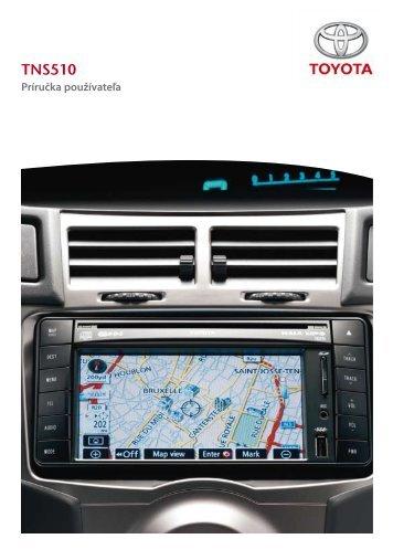 Toyota TNS510 - PZ445-00333-SL - TNS510 (Slovak) - Manuale d'Istruzioni