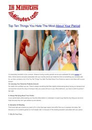 Top Ten Things You Hate The Most About Your Period
