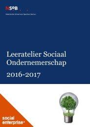 Leeratelier Sociaal Ondernemerschap 2016-2017
