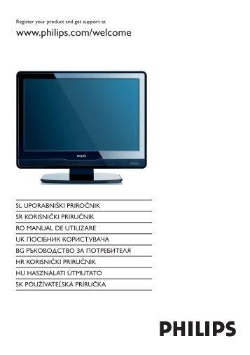 Philips TV LCD - Mode d'emploi - SLK