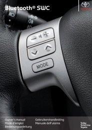Toyota Bluetooth SWC - PZ420-T0290-ME - Bluetooth SWC (English French German Dutch Italian) - Manuale d'Istruzioni