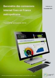 Baromètre des connexions Internet fixes en France métropolitaine