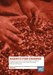 Agents for change