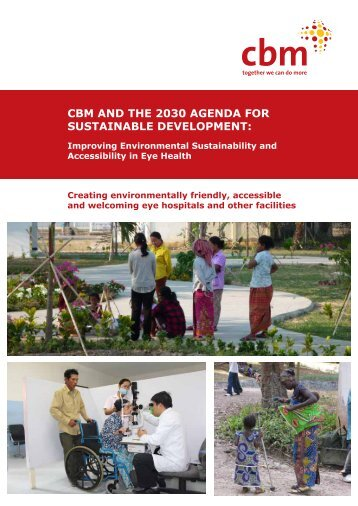 CBM AND THE 2030 AGENDA FOR SUSTAINABLE DEVELOPMENT