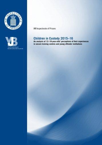 Children in Custody 2015–16
