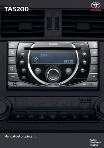Toyota TAS200 - PZ420-00212-ES - TAS200 (Spanish) - Manuale d'Istruzioni