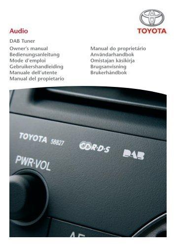 Toyota DAB Tuner - PZ473-X2210-A0 - DAB Tuner - all lanuages - Manuale d'Istruzioni