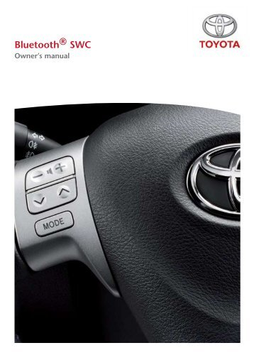Toyota Bluetooth SWC English - PZ420-00293-EN - Bluetooth SWC English - Manuale d'Istruzioni