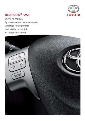 Toyota Bluetooth SWC English Russian Lithuanian Latvian Estonian - PZ420-00293-BE - Bluetooth SWC English Russian Lithuanian Latvian Estonian - Manuale d'Istruzioni