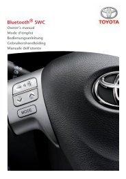Toyota Bluetooth SWC English French German Dutch Italian - PZ420-00296-ME - Bluetooth SWC English French German Dutch Italian - Manuale d'Istruzioni
