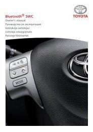 Toyota Bluetooth SWC English Russian Lithuanian Latvian Estonian - PZ420-00296-BE - Bluetooth SWC English Russian Lithuanian Latvian Estonian - Manuale d'Istruzioni
