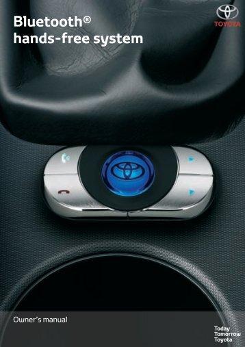 Toyota Bluetooth hands - PZ420-I0290-EN - Bluetooth hands-free system (English) - Manuale d'Istruzioni