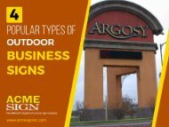 4 Popular Outdoor Business Signs you need to Know