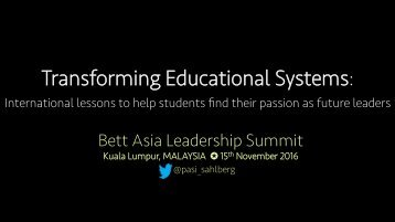Transforming Educational Systems