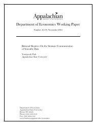 Department of Economics Working Paper