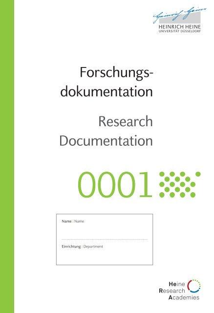 Forschungsdokumentation der medRSD
