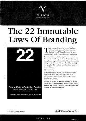 22 laws in branding