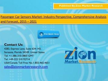 Passenger Car Sensors Market 2015 - 2021