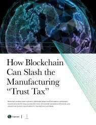 """How Blockchain Can Slash the Manufacturing """"Trust Tax"""""""