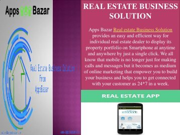 Increase your business with real estate app