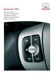 Toyota Bluetooth SWC English Spanish Greek Portuguese Turkish - PZ420-00291-SE - Bluetooth SWC English Spanish Greek Portuguese Turkish - Manuale d'Istruzioni