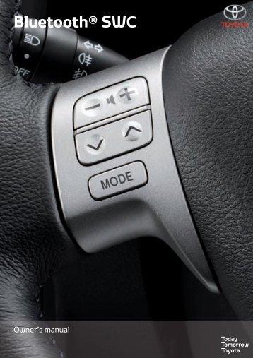 Toyota Bluetooth SWC - PZ420-T0290-EN - Bluetooth SWC (English) - Manuale d'Istruzioni