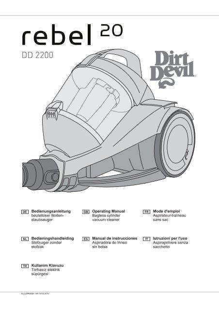 Dirt Devil Rebel 20 - Bedienungsanleitung Dirt Devil Rebel 20 DD2220