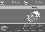 Dirt Devil Allegra - Bedienungsanleitung Dirt Devil Allegra M7000