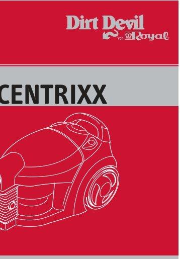 Dirt Devil Centrixx - Bedieungsanleitung Dirt Devil Centrixx M3882