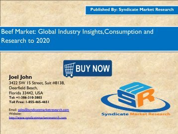 Global Beef Market Consumption and Prospects to 2020