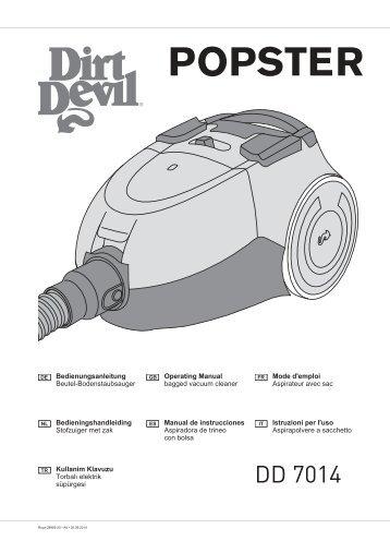 Dirt Devil POPSTER Coral - Bedienungsanleitung Dirt Devil POPSTER DD7014